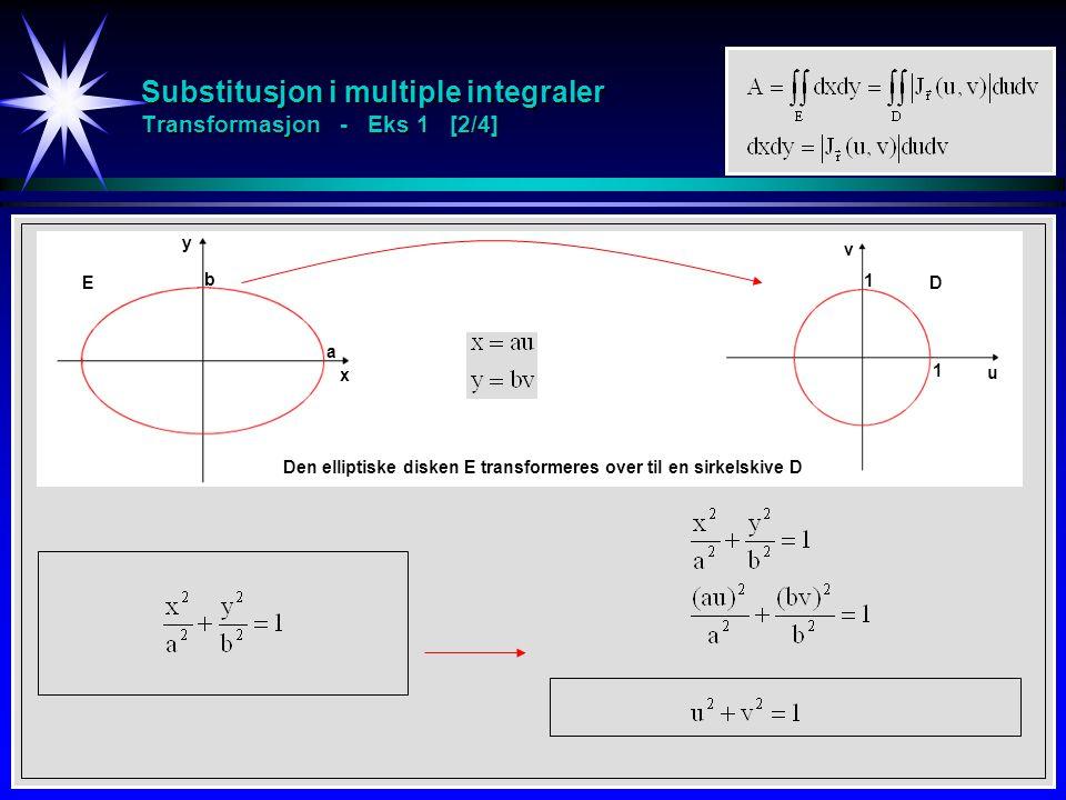 Substitusjon i multiple integraler Transformasjon - Eks 1 [2/4]